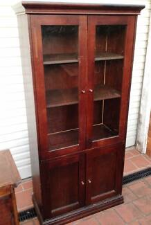 Timber Display and Storage cabinet - Walnut Finish Padstow Bankstown Area Preview