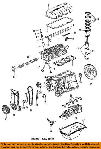 Saturn GM OEM 95-98 SC2-Engine Piston Ring 21007180   eBayeBay