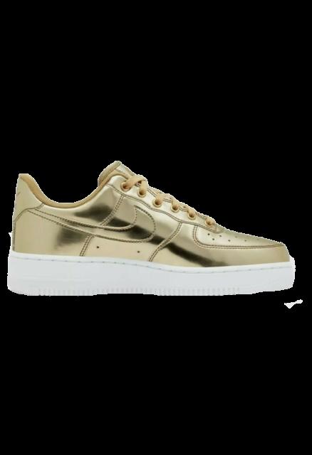 Nike Air Force One Sp Metallic Gold White Sneker