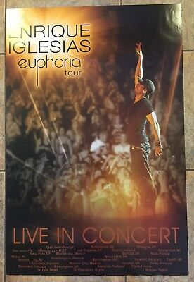 "Enrique Iglesias Euphoria Your Live In Concert Poster  24""W X 36""L"