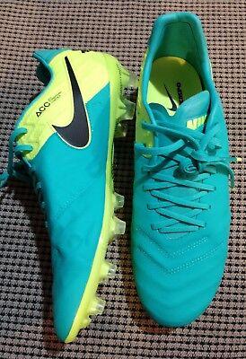 Nike Tiempo Legend Vi  Acc Fg Soccer Cleats Jade   Volt  Mens 9 5   819177 308