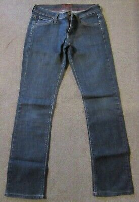 Ladies Slim Fit Straight Leg Blue Jeans Size 8 By James Jeans U.S
