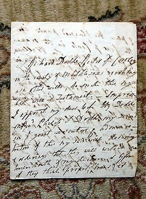 1798 HANDWRITTEN WILL of RICHARD DODD, RECTOR of COWLEY, MIDDLESEX COUNTY