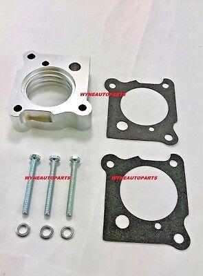 Billet Aluminum Throttle Body - Silver Billet Aluminum Throttle Body Spacer FOR 01-10 Chrysler PT Cruiser N/T