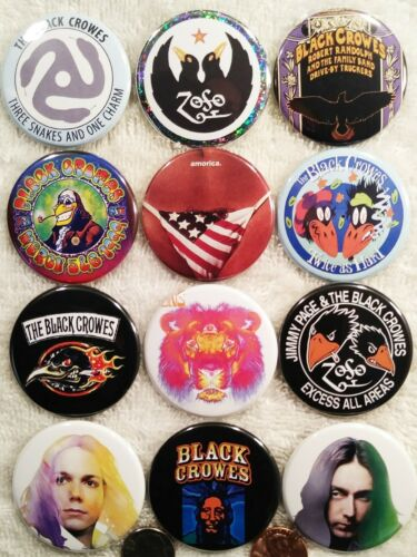 Black Crowes PIN BUTTON LOT 12 Small Album Lp Discography A Rolling Stones Rare