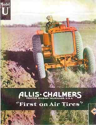Allis-chalmers U First On Air Tires Tractor Catalog Sales Brochure Reprint