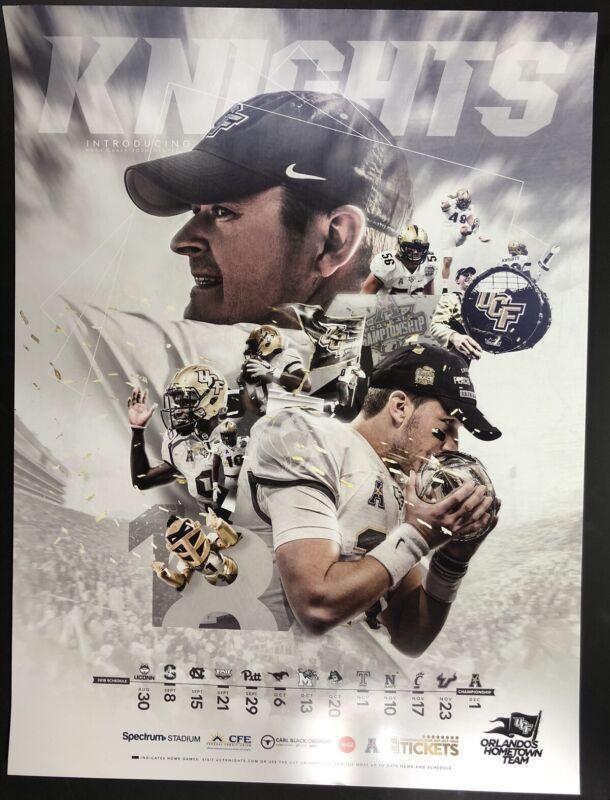 2018 UCF KNIGHTS FOOTBALL TEAM Official Poster Coach Josh Heupel McKenzie Milton