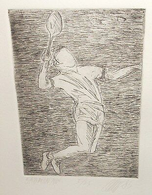BADMINTON LIMITED EDITION SIGNED TENNIS ETCHING  on Rummage
