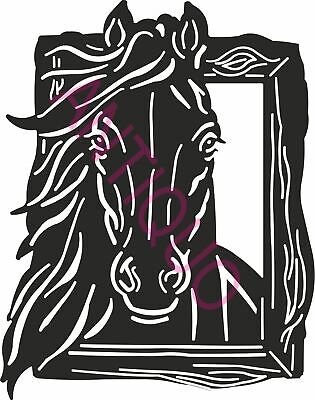 Dxf File Cnc Vector Dxf Plasma Router Laser Cut Dxf-cdr Files - Horse Wall Decor