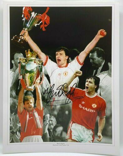 Mark Hughes Manchester United SIGNED 16x12 Photo AFTAL OnlineCOA