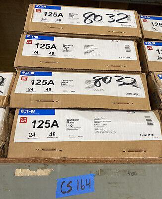 Eaton Ch24l125r Outdoor Main Lug Panel Ch 125a 120240vac 1ph 3wire 48cir 24sp