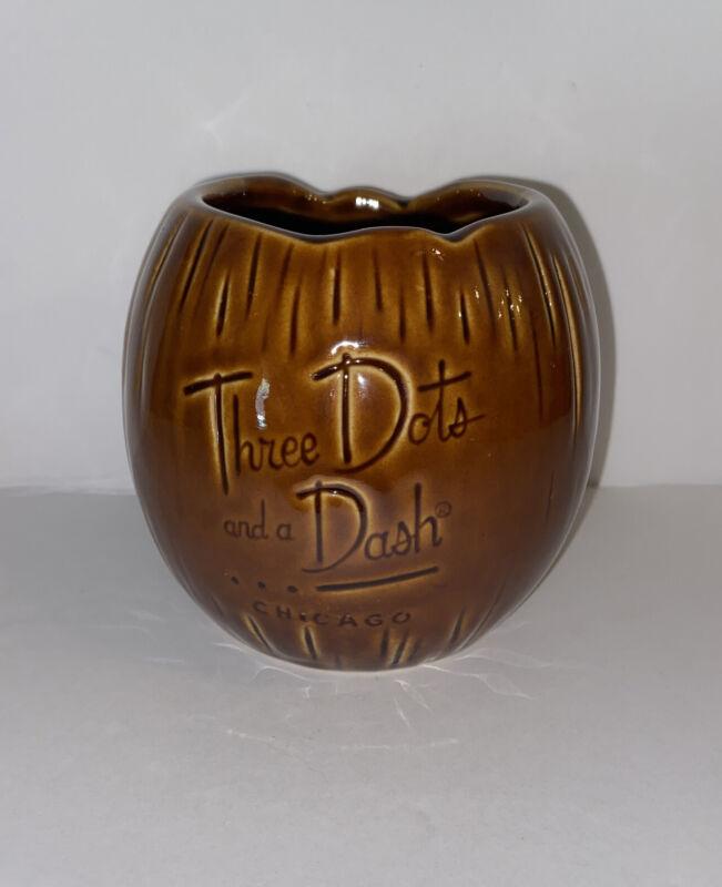 Coconut Tiki Farm Mug Three Dots and a Dash Chicago Brown Vintage