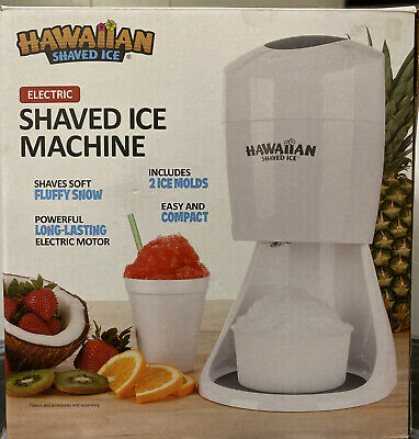 Hawaiian Shaved Ice S900a Shaved Ice And Electric Snow Cone Machine White