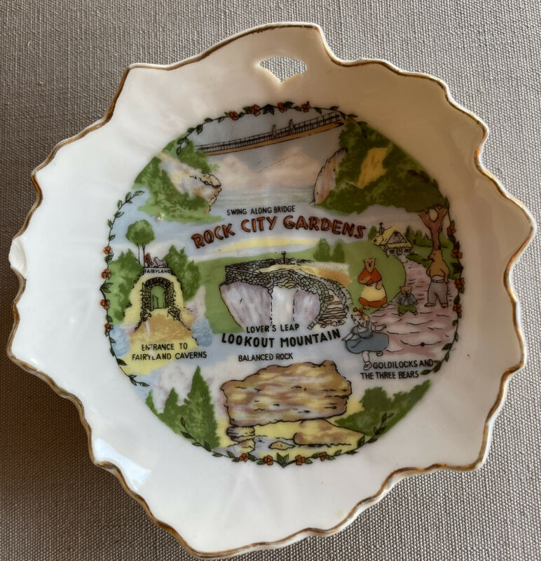 Rock City Gardens 1960s Era Chattanooga Tennessee Lookout Mountain Dish Ashtray