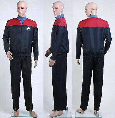 Star Trek Voyager-Command-Uniform Rote Cosplay Kostüm Halloween Party