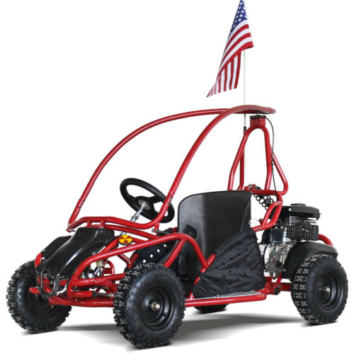 Redfox 80cc Kids Mini Red Go Kart Gas Ready to Ride 4 Wheels Adjustable Seat