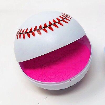 Pink  Gender Reveal Baseball  - 1 Pink - Baseball Baby Shower Decorations