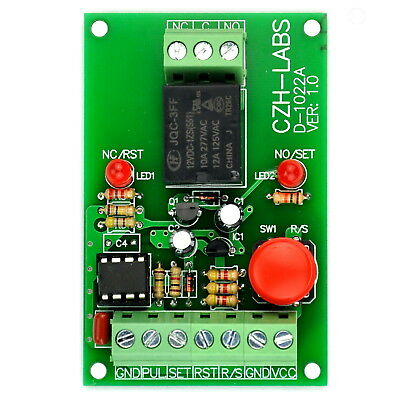 Panel Mount Momentary-switchpulse-signal Control Latching Spdt Relay Module12v