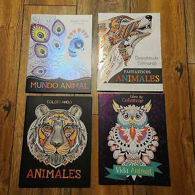 Coloring Book Of Animals (Adult Coloring Books Stress Relieving Designs - Animals - Set of)