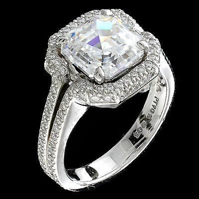 MICHAEL B NEW HANDMADE PLATINUM MICRO PAVE DIAMOND RING MOUNTING SIZE 6