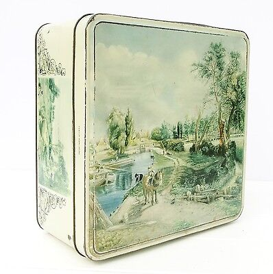 Vintage Huntley Palmers Biscuits Tin John Constable Paintings