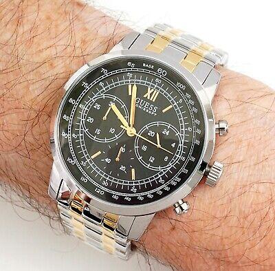 GUESS Reloj de Hombre W0915G2 Protocol Dos Colores Nuevo
