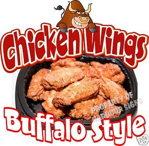 Chicken-Wings-Buffalo-Style-14-Decal-Concession-Restaurant-Food-Truck ...