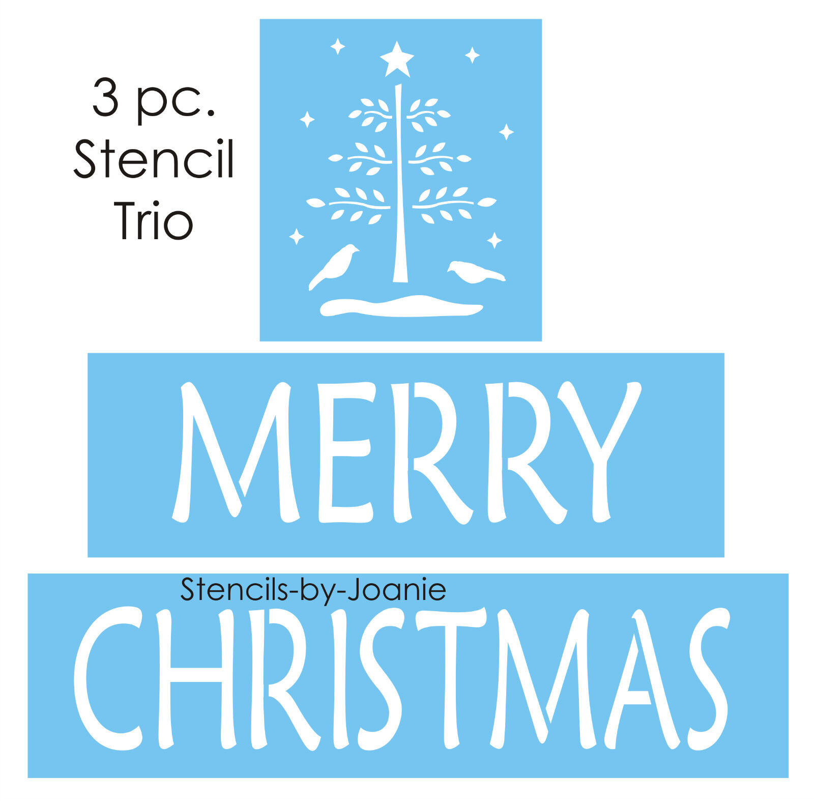 Design Your Own Home Nebraska Winter Stencil Merry Christmas Primitive Feather Tree Crow