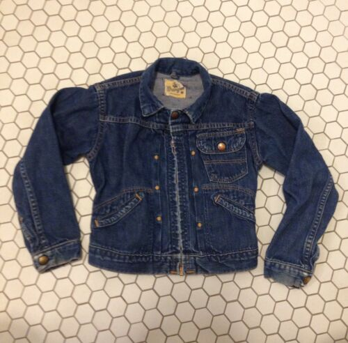 Kids 10 Vintage Wrangler Blue Bell Sanforized 1950