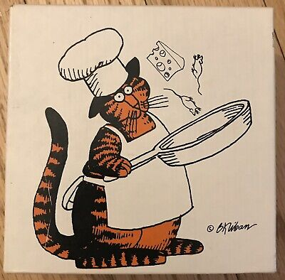 1980 Kliban's Cats Chefcat Vintage Jigsaw Puzzle Chef Cat Cooking Mice & Cheese