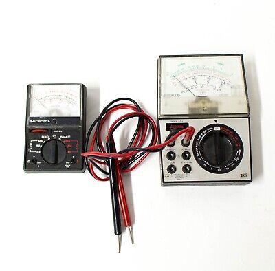 Radio Shack Micronta 22-202u 22-212 Multitester Vom Multimeter - Pair