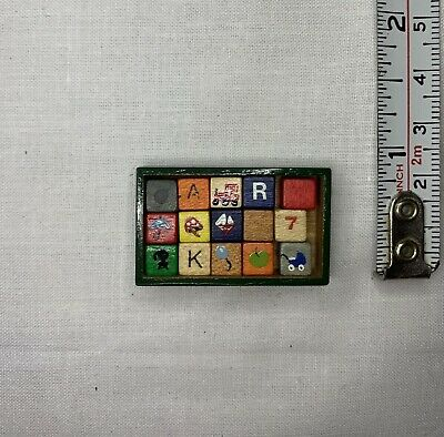 Minature Dolls House wooden block game-dolls house minatures