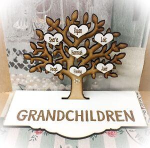 Grandparents Grandchildren Grandkids Family Tree Nan Grandad Mothers Day Gift