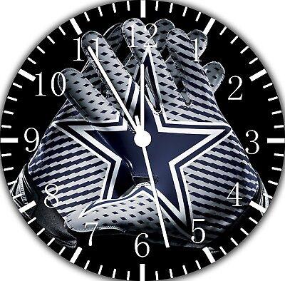Dallas Cowboys Frameless ohne Grenzen Wanduhr Schön für Geschenke oder Dekor ()