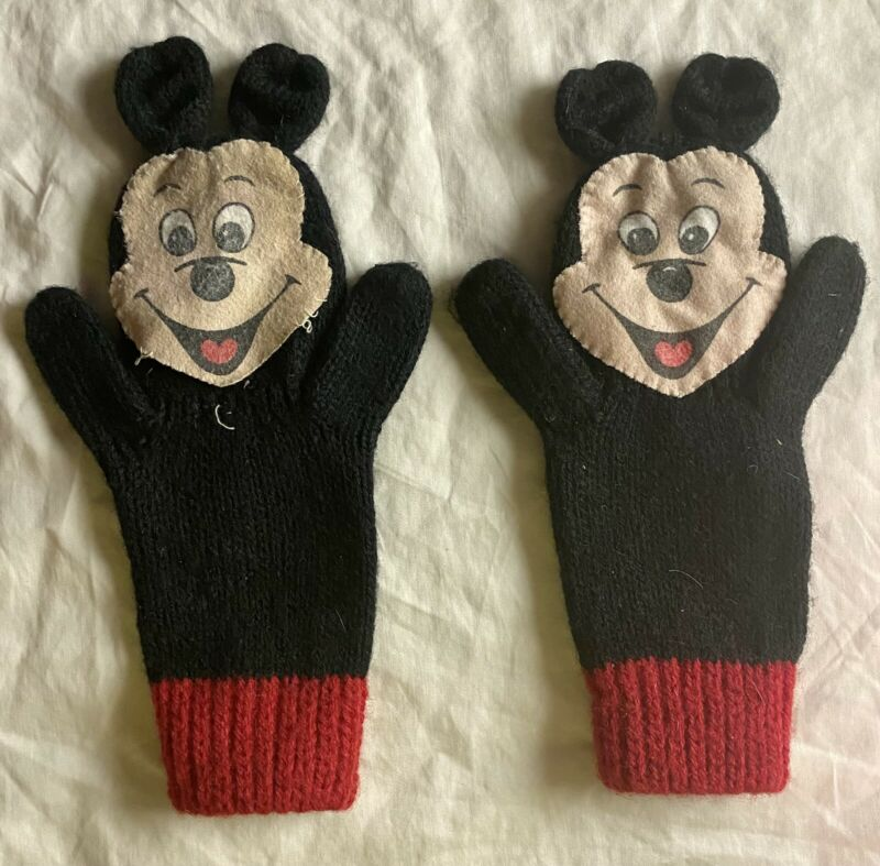 Vintage Mickey Mouse Children's Gloves/Mittens - Disney - Adorable!!!