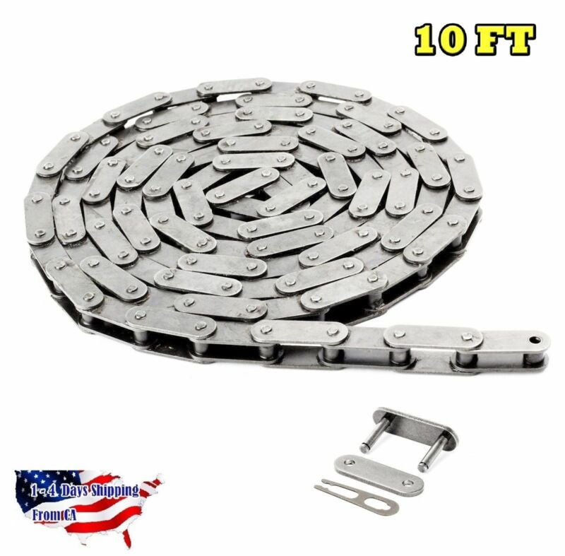 #C2050-SS Stainless Steel Conveyor Roller Chain 10 Feet with 1 Connecting Link