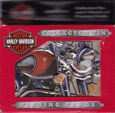 2003 Harley Davidson Motorcycles Bicycle Playing Card Decks in Tin