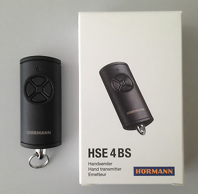 Hörmann Handsender HSE 4BS - 868,3 MHz BiSecur- Fernbedienung schwarz Struktur