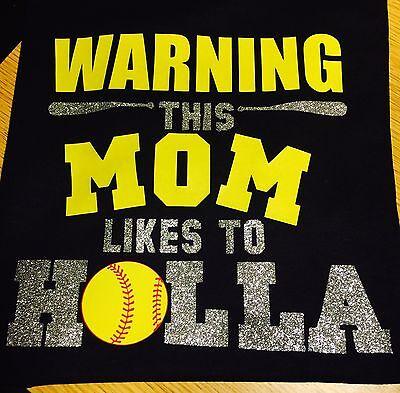 Softball T-SHIRT Black Navy Or Red Unisex New Softball Mom