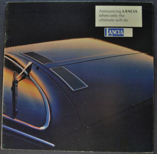 1977 Lancia Catalog Brochure Beta Coupe Sedan Excellent Original 77 Canadian