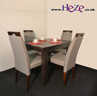 Extending dining table in dark wood, oak wenge, small, perfect TABLE ONLY