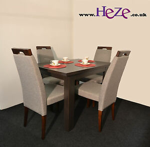 Extending dining table in oak wenge, small, perfect for all rooms and kitchens
