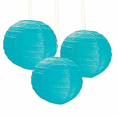 12 Turquoise Paper Chinese Lanterns centerpieces Wedding Party - Paper Lantern Centerpieces