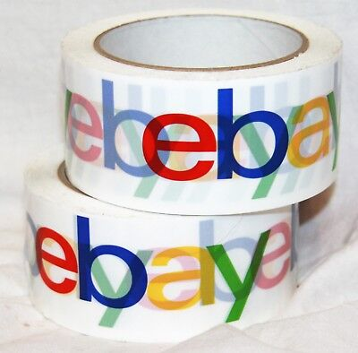 Ebay Branded Tape Roll Packaging Packing Shipping 2 Lot Of 2 Rolls