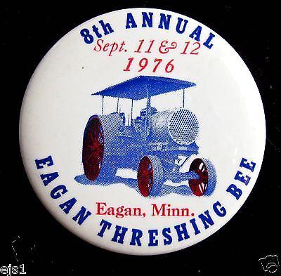Eagan Threshing Bee Pinback/Button/Badge for 1976, Eagan, Minnesota