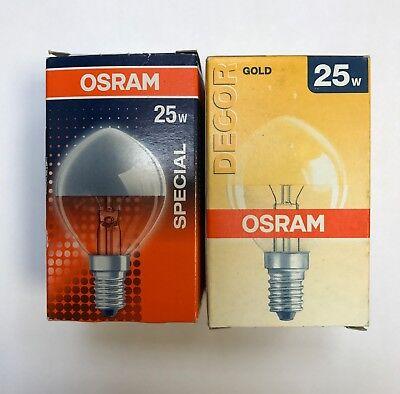 egel Lampe Birne  Glühlampe E14 230V 25 /40W Gold + Silber (Kopf Spiegel)