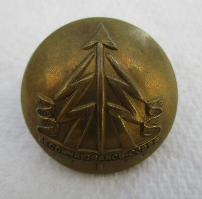 """2x British Army:""""RECONNAISSANCE CORPS BRASS BUTTONS"""" (WW2, 19mm, Good Condition)"""