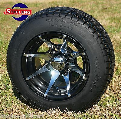 "GOLF CART 10""x7"" KRAKEN WHEELS and 205/50-10 LOW PROFILE TIRES (4)"
