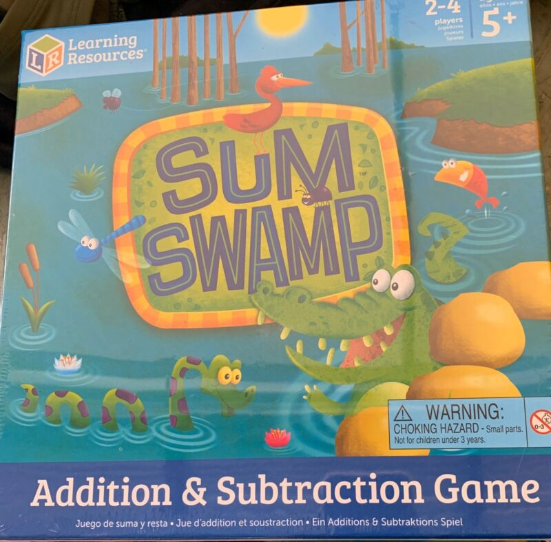 Learning Resources Sum Swamp Addition/Subtraction Game, Ages 4-Up