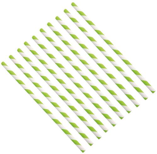 Trinkhalm aus Papier 100 Stück grün weiß Strohhalme Papierstrohhalme nachhaltig